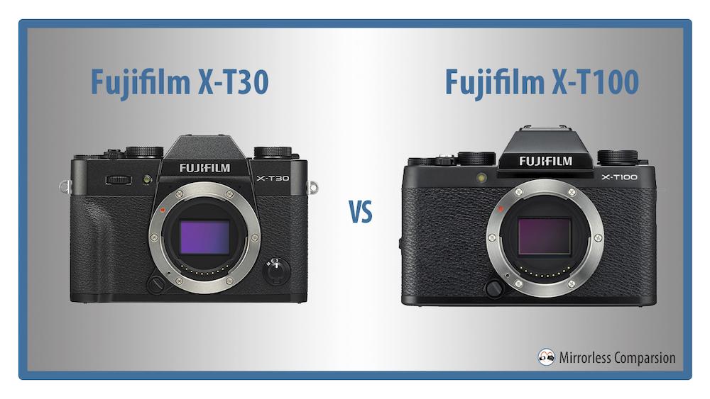 fujifilm xt30 vs xt100