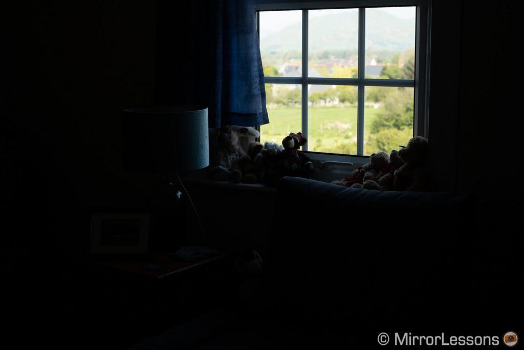 dark interior of a room