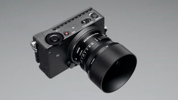 Sigma FP with 45mm lens attached