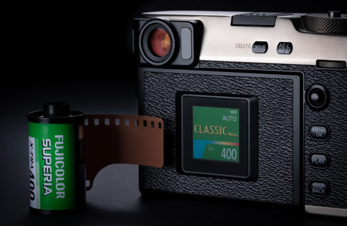 The secondary LCD display of the X-Pro3