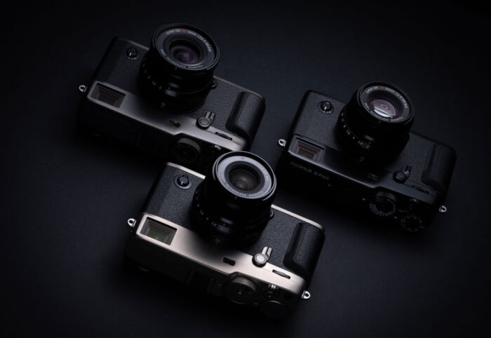 The X-Pro3 in three different colours