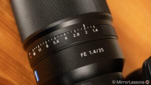 sony 35mm 1.4 e mount