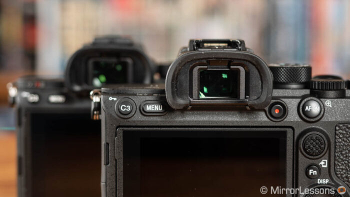 sony a7r iii viewfinder settings