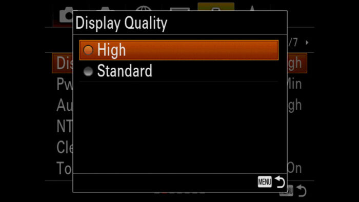 sony a7 iii display quality