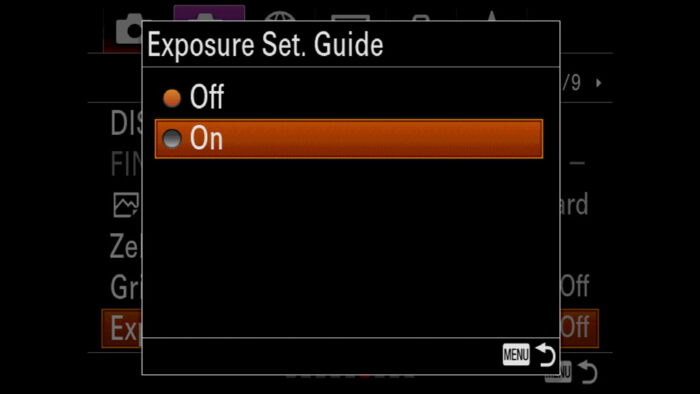 sony a7 iii display options