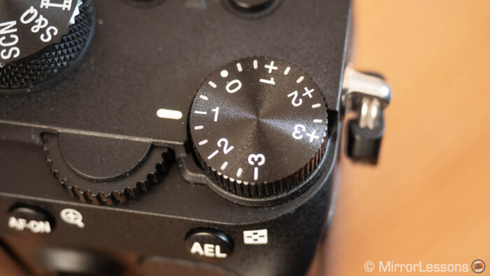 exposure compensation sony a7 iii