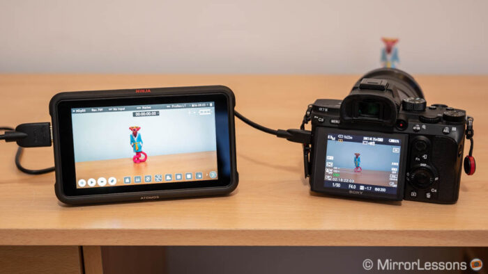 sony a7 III external recording settings