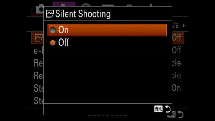sony a7 iii silent shutter