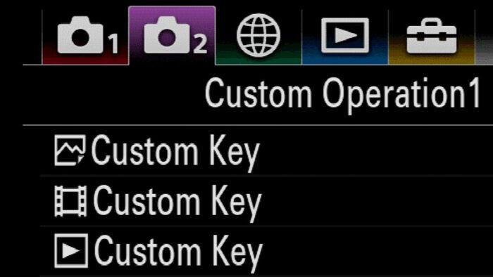 sony a7iii custom buttons