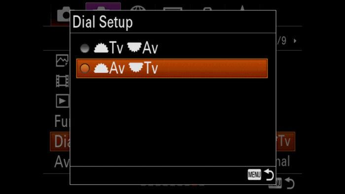 sony a7 iii dial settings