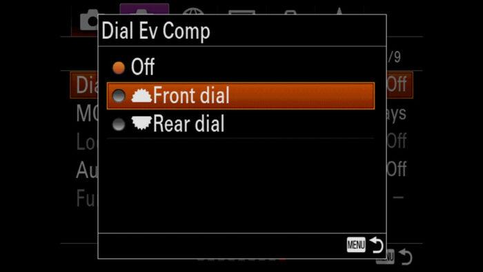 sony a7iii dial settings