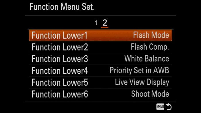 custom settings for sony a7iii