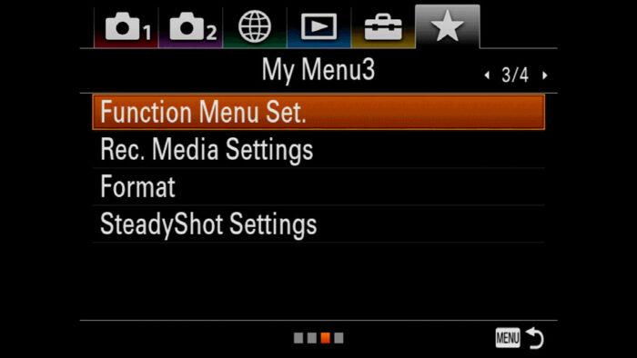 sony a7iii custom setting