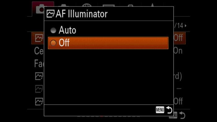 sony a7 iii af illuminator