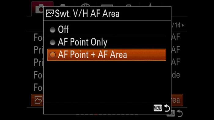sony a7iii autofocus settings
