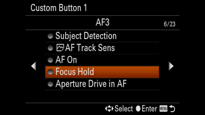 sony a7 iii focus settings