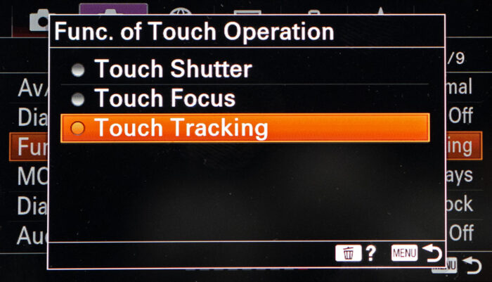 sony real time tracking af