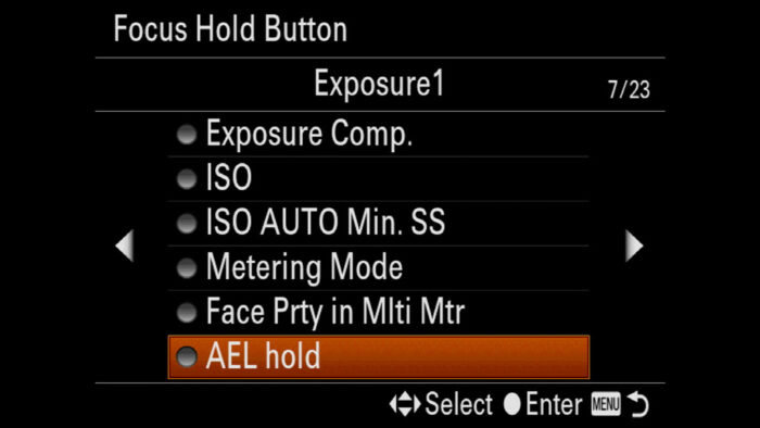 ael button sony a7 iii