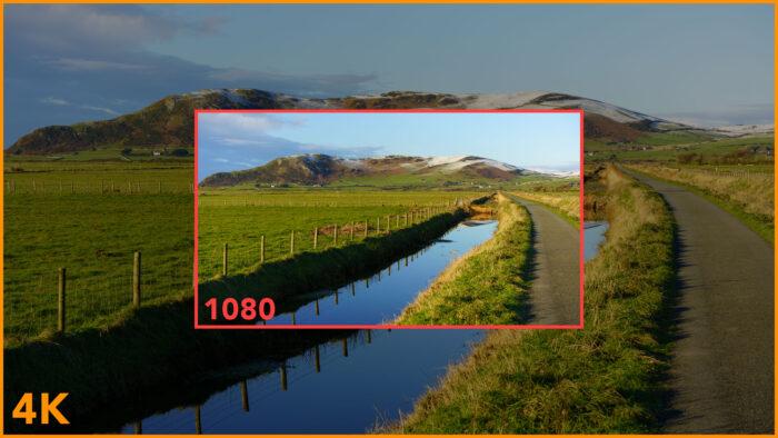 4K versus 1080p field of view