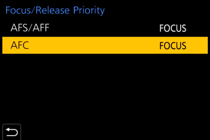 Focus / Release priority menu