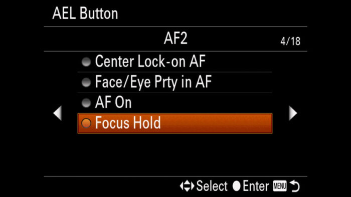 The Focus Hold option