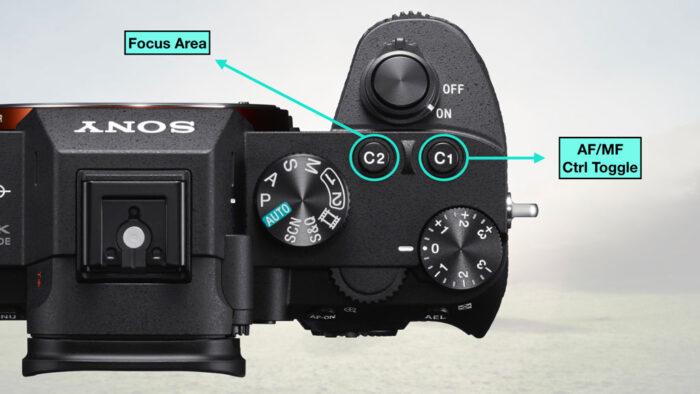 Configure button C2 to Focus Area. Configure button C1 to AF/MF control toggle.