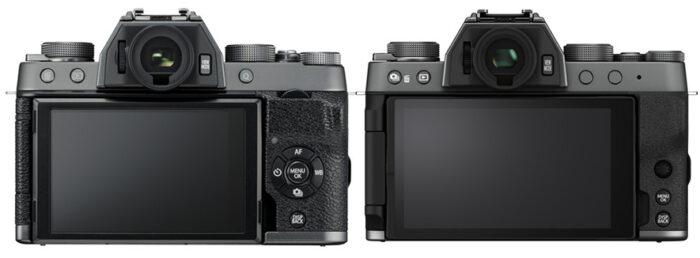 Fujifilm X-T100 vs X-T200 rear view