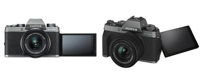 Fujifilm X-T100 vs X-T200 articulating LCD screen