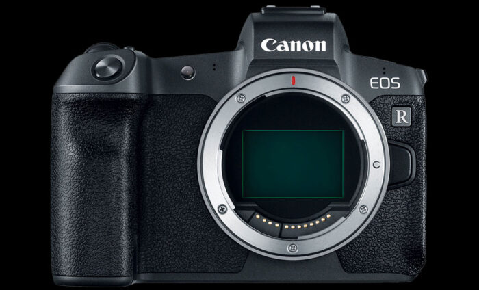 No extra button on the front of the EOS R