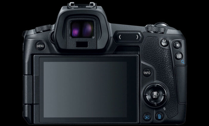 Rear view of the EOS R