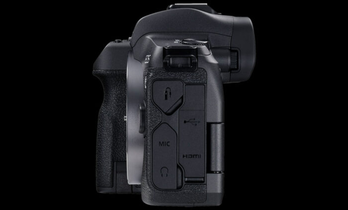 Side view of the EOS R