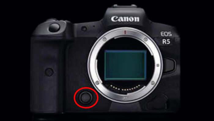 Extra button on the front of the EOS R5