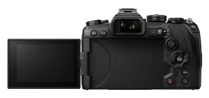 The E-M1 III flip out screen