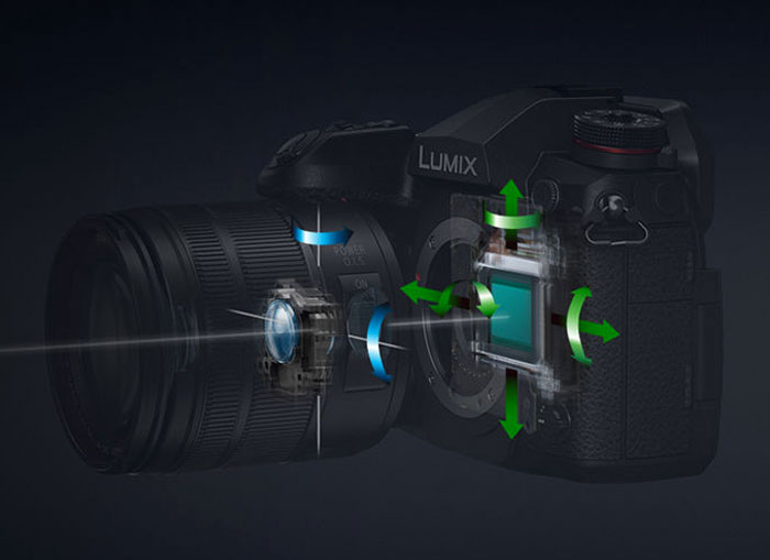 The 5-axis image stabilisation mechanism of the G9