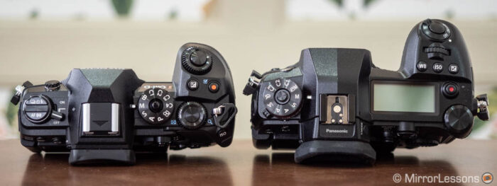 Top view of the E-M1 III and G9