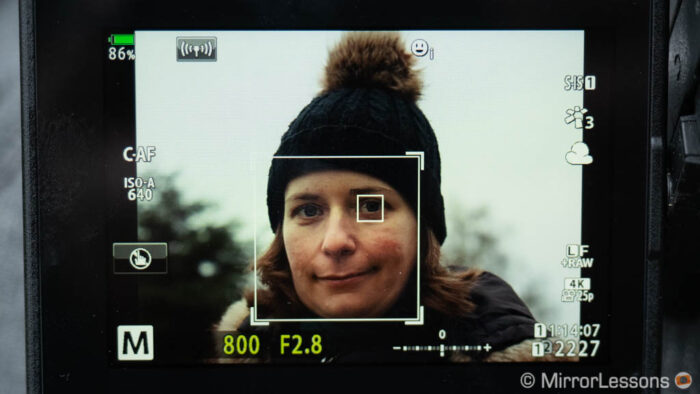 Eye detection on the E-M1 III