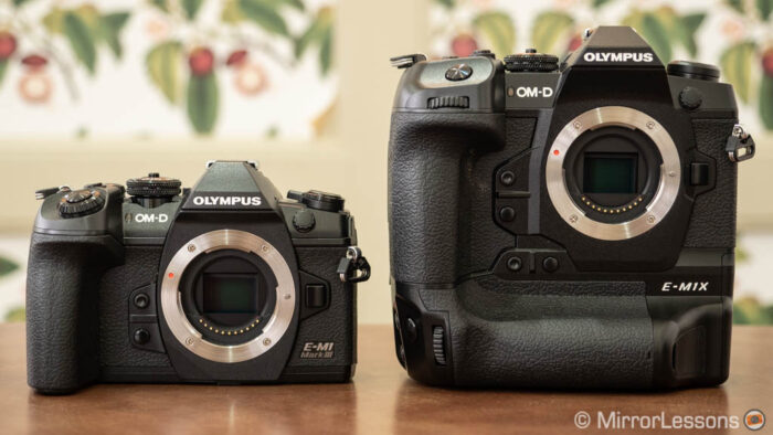 The E-M1 III and E-M1X side by side
