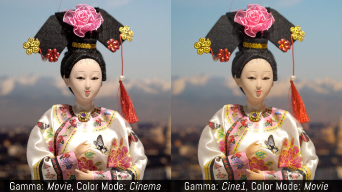 Gamma: Movie, Color Mode: Cinema versus Gamma: Cine1, Color Mode: Movie