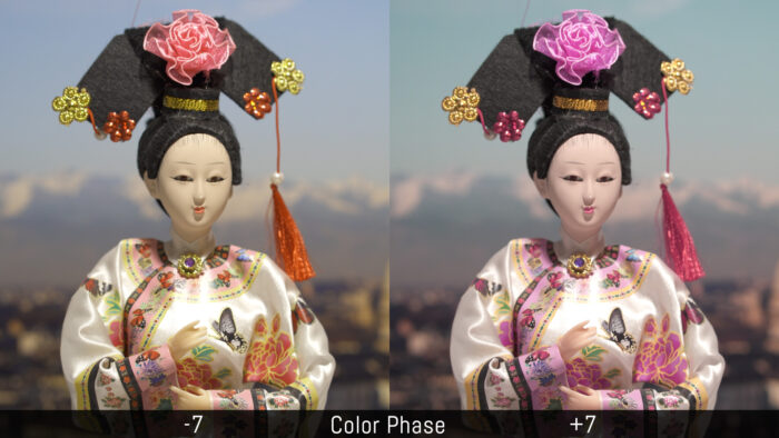 Comparison between Color Phase -7 and +7