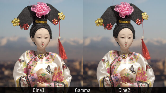 Cine1 versus Cine2 using the gamma settings