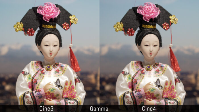 Cine3 versus Cine4 using the Gamma settings