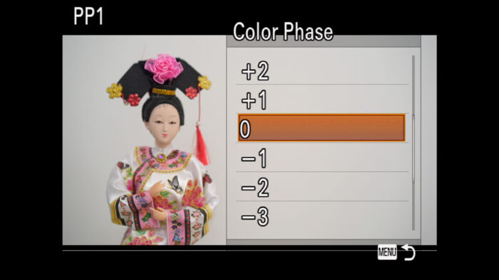 The Color Phase menu
