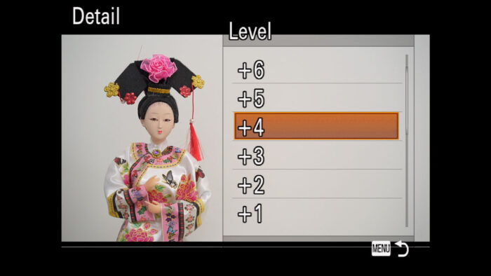 The Detail menu