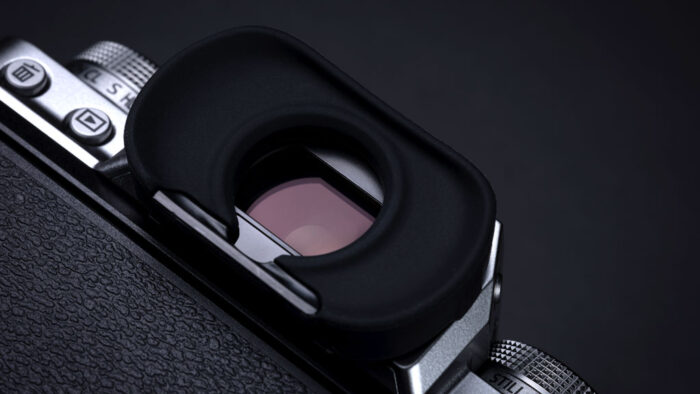 The X-T4 electronic viewfinder