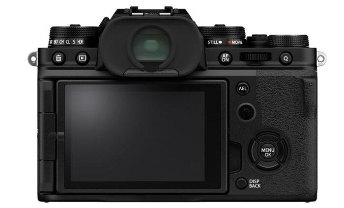 Rear view of the X-T4