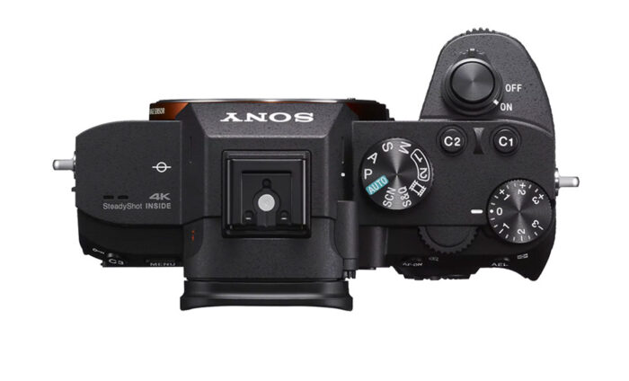 Sony A7 III top view