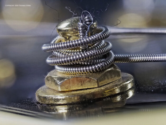 A coil up close