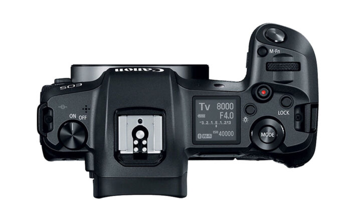 eos r top view