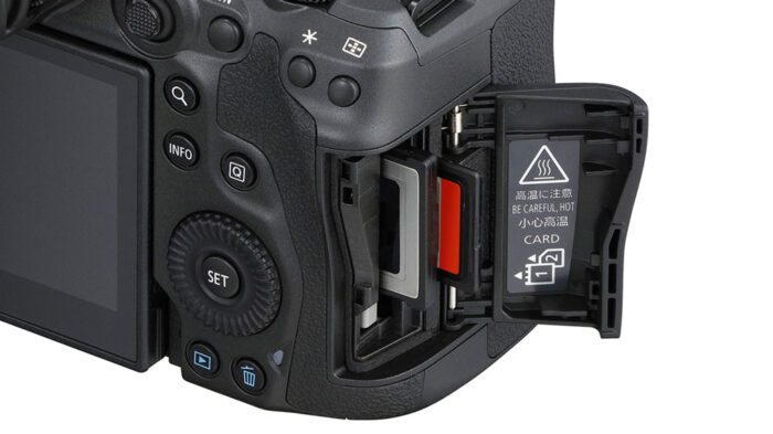 dual card slot on eos r5
