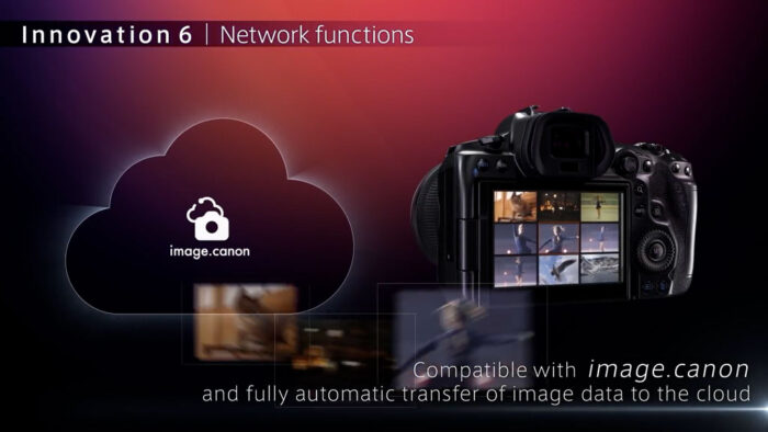 eos r5 network options